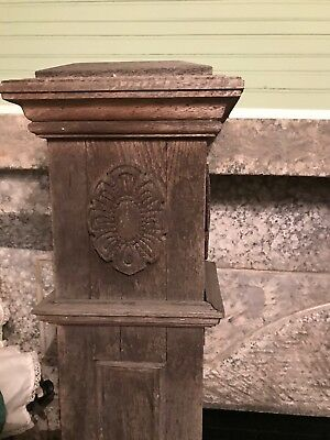 ~ Antique Carved Oak Newel Post ~  *architectural Salvage *