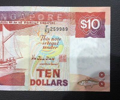 Singapore Ten Dollars Paper Note Rare