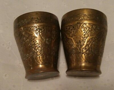 Vintage Indian Engraved Cups