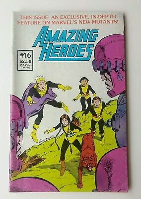 AMAZING HEROES 16 First Appearance NEW MUTANTS Marvel Graphic Novel 4 1982