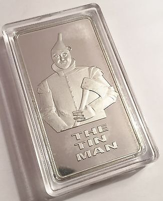 "2016 ""THE TIN MAN"" 1 Troy Oz 999 Pure Tin Ingot (The Wizard Of Oz) Ind/Numb"