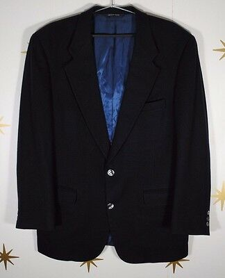 Vintage Mens LORO PIANA Woolf Brothers Navy Blue 100% Cashmere Blazer Jacket 44R