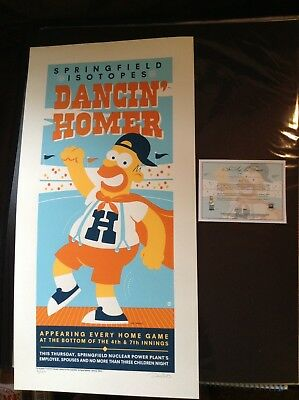 DANCIN' HOMER SIMPSON Acme Archives Dave Perillo silkscreen limited edition /250