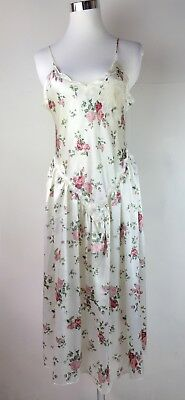 Vintage Victorias Secret Gold Label Floral Nightgown Babydoll Dress Size S Small