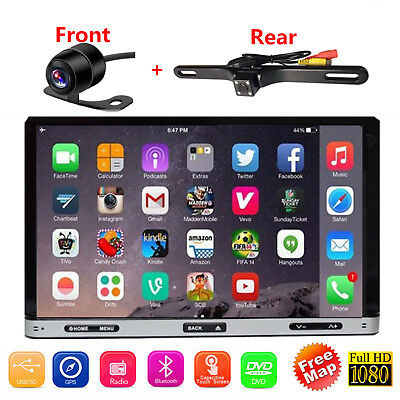 "7"" Smart Android 6.0 4G WiFi Double 2DIN Car Radio Stereo DVD Player GPS+Camera"