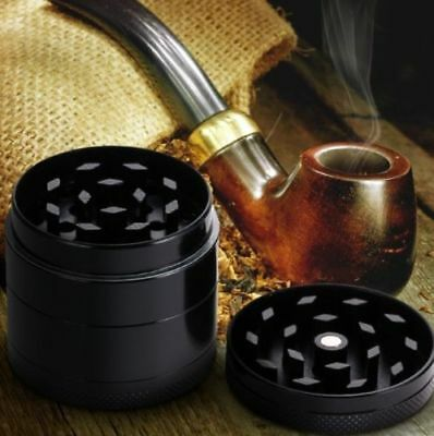 4Layers Herb/Spice/Weed Alloy Smoke Crusher 2 Inch Tobacco Grinder Black Hot US