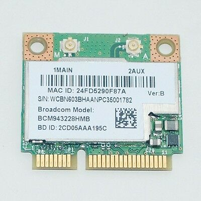 Broadcom BCM943228HMB WIFI Wireless N BT Bluetooth 4.0 Half MINI Card 802.11abgn