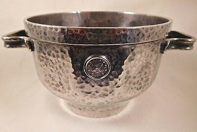 Arts & Crafts Hammered Silver Bowl for Alamac Hotel, Lincoln Square, New York