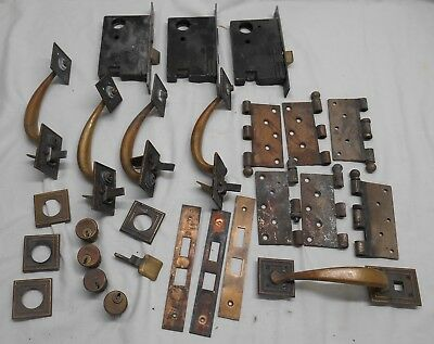 Antique SARGENT & CO Brass Door Plates, Handles,Locks, Parts Repair Hardware