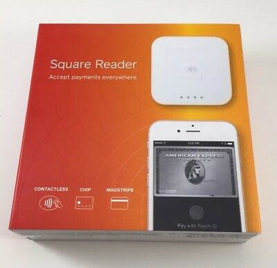 Square contactless and chip reader wireless NFC NEW - White A-SKU-0113