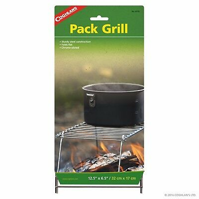 Coghlans Pack Grill Camp Kitchen Cook Easy Storage Packing Plated Steel COG8770