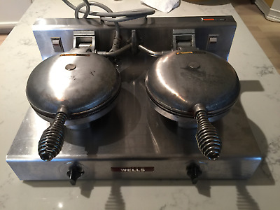WELLS W-2 Double Commercial (NSF) or Home Waffle Iron