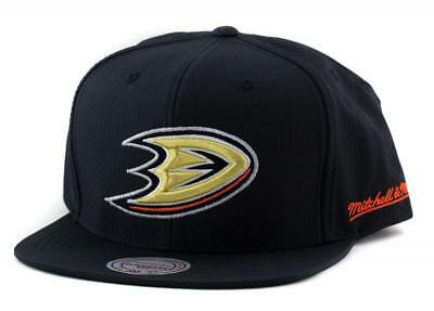 Anaheim Ducks NHL Hat From Mitchell & Ness Baseball Cap Black Mitchell And Ness