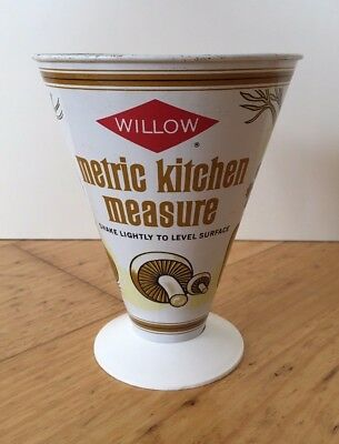 Vintage Willow Metric Kitchen Measure 1960's-1970's Metal