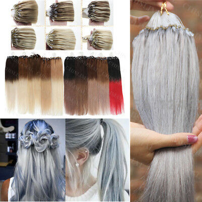 14-26Inch Easy Loop Micro Ring Bead Tip 100% Remy Human Hair Extensions 100/200S