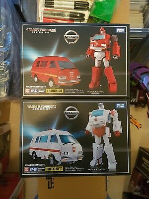 transformers masterpiece mp 27 and mp30 ironhide and ratchet