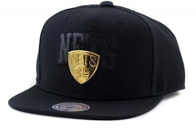 Brooklyn Nets NBA Hat Mitchell & Ness Baseball Cap In Black Mitchell And Ness