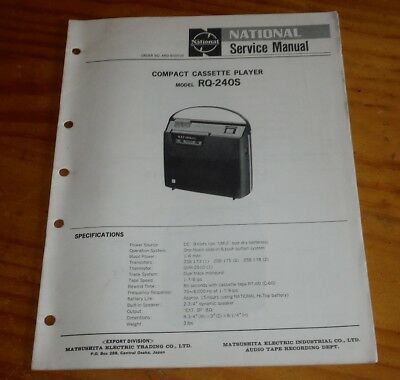National Cassette Tape Player model RQ-240S Service Manual