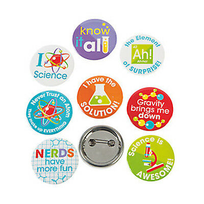 12 Science Badges|Science Party|Party Favours|Party Bag Fillers
