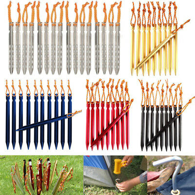 10pcs Alloy Tent Hook Peg Spike Outdoor Camping Stake Nail Hiking Survival Tool