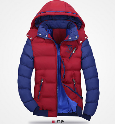 HOT Winter Men's Hooded jackets Coat Outwear new short Padded RED Jacket