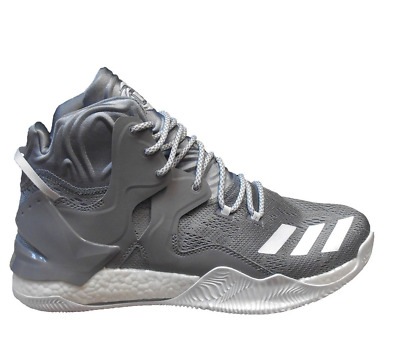 6b8b27db284a Adidas D Rose 7 Nba Boost Basketball Men Shoes Grey white B38931 Size 13.5  New