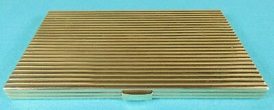 Superb Solid Gold Art Deco Double Cigarette Case Fitted Leather Box Cartier 1942