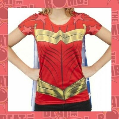 Dc Comics Wonder Woman Sublimed Caped Tee  - XL - NEW