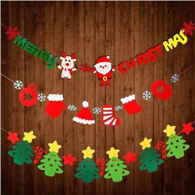 Christmas Bunting Garland Banner Hanging Flag Shop Home XMAS Party Decor 3Meters