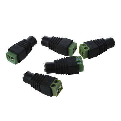 PF 5X DC Power Female Jack 5.5X 2.1mm Connector Cable Adapter Plug CCTV DVR Came