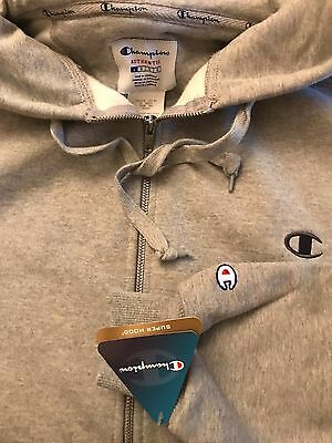 Champion Premium 'Super Hood' - Hoodie w/zip Size Large - Grey- Brand New!!
