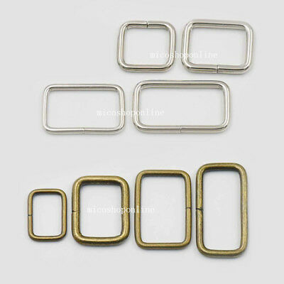 19 25 32 38mm Metal Rectangle Dee Ring No Welded D webbing Belt Buckle Brozne Ni