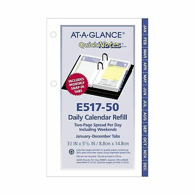 AT-A-GLANCE Daily Desk Calendar Refill, QuickNotes, January 2018 - December 2...