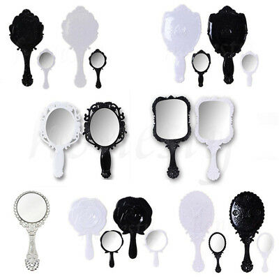 1PC Woman Retro Various Style Floral Hand Held Mirror Makeup Dresser Xmas Gift