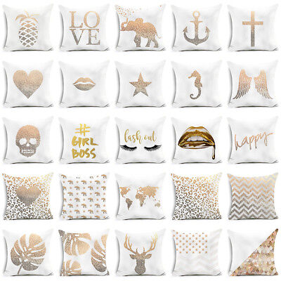 Wing Letter Star Print Throw Pillow Case Sofa Cushion Cover Home Decor Reliable