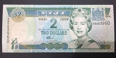 Government Of FIJI Two Dollars  Note UNC Rare