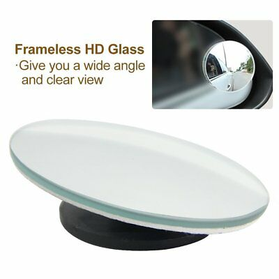 Blind Spot Mirror 2pcs Rimless HD Glass Wide Angle 360° Convex Mirror Rear View