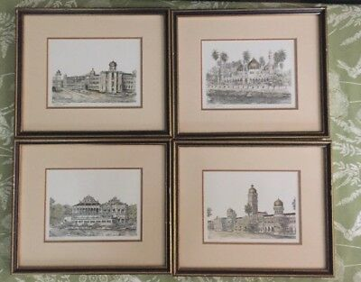Set Of 4 Prints Kuala Lumpur Architecture Signed - Jame Mosque