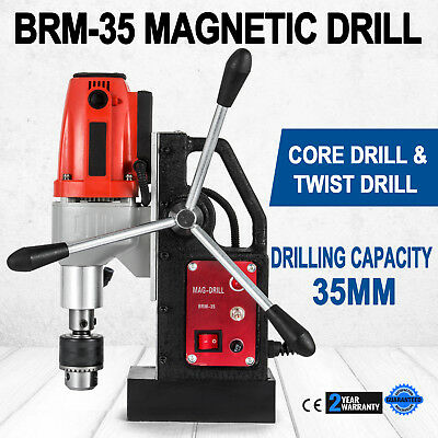 BRM35 Magnetic Drilling Machine Mag Drill 35mm 1200W Spiral Drills Compact