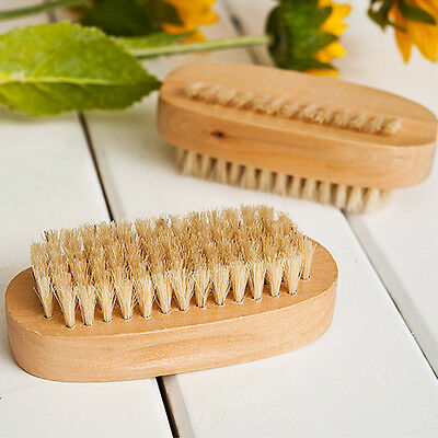 Bristle Hand Brush Foot Fingernail Wood Handle Nail Manicure