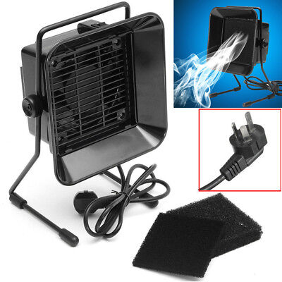 Solder Smoke Absorber Fume Extractor Air Fan + Activated Carbon Filter Sponge