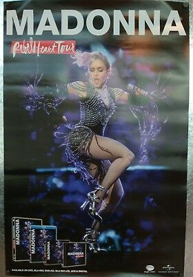 MADONNA rebel heart tour promo poster RARE 2-sided Excellent Hong Kong NEW CD