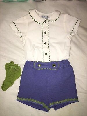 Baby Boys Designer Spanish Outfit / Clothes & Socks 18 Months Immaculate!!