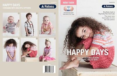Patons Pattern Book #8015 - Happy Days - Big Baby 8ply & Big Baby Fair Isle 8ply