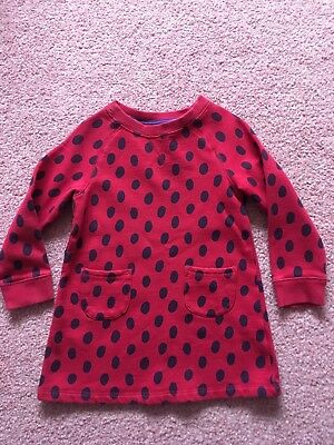 Mini Boden Red Spot Jumper Dress 3-4 Years Used
