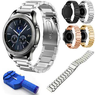 New For Samsung Gear S3 Frontier / S3 Classic 22mm Watch Band Metal Wrist Strap