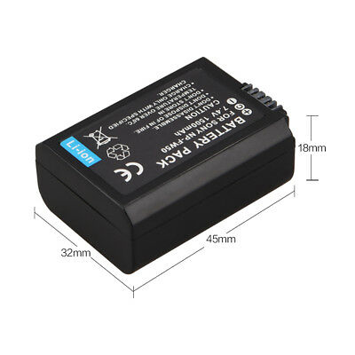 1500mAh NP-FW50 Battery For Sony Alpha 7 a7 7R a7R 7S a7S a3000 a5000 a6000 Cam