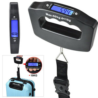 LCD Digitale Kofferwaage 50 KG Gepäckwaage Hängewaage Luggage Scale Reisewaage