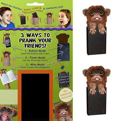 Jitters Fur Plastic Brown Pet Prankster Button Wire Mode Pop Up Pets SNITCH US