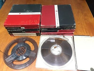 12 Reel to Reel Magnetic Audio Tapes + 1 Half Empty 7inch Good condition